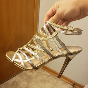 Gold High Heels by Guess